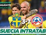 Resumen   Suecia muestra todo su poderío y domina 3-1 a Armenia