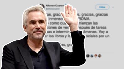 Alfonso Cuarón se despide por un tiempo tras el éxito de 'Roma'