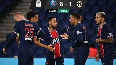 Con goles de Neymar y Mbappé, PSG humilla al Angers