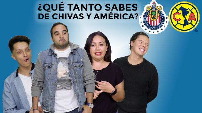 ¿Qué tanto sabes de Chivas y de América?