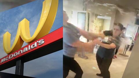 (Video) La brutal pelea en McDonald's en la que clienta escupe a empleada por un capricho