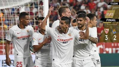 Sevilla remonta a la Real Sociedad sin Chicharito