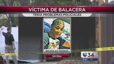 Víctima de balacera tenía problemas policiales
