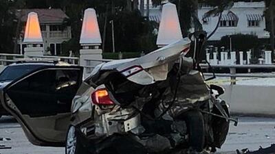 Accidente de tráfico mortal en el MacArthur Causeway sentido oeste