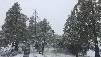La tormenta que trajo nieve al Área de la Bahía