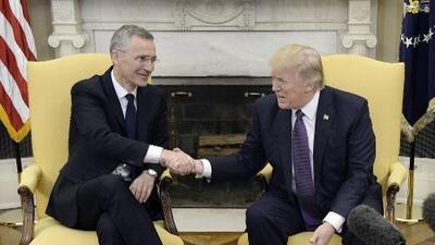"""Trump hace las paces con la OTAN: """"Ya no es obsoleta"""""""