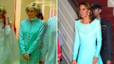 El pequeño homenaje de Kate Middleton a Lady Di en Pakistán con un vestido que tiene un significado especial