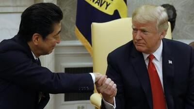 Trump solicitó al primer ministro japonés que lo nominara al Premio Nobel de la Paz, según reportes de prensa