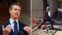Detienen a un hombre que presuntamente atacó al gobernador Gavin Newsom
