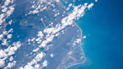 La foto que una astronauta tomó de Cabo Cañaveral desde el espacio