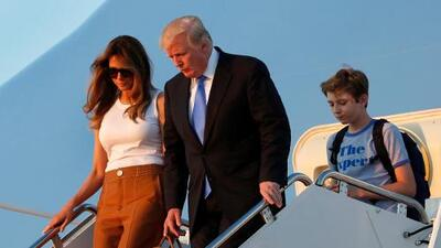 Melania y Barron Trump, por fin en la Casa Blanca