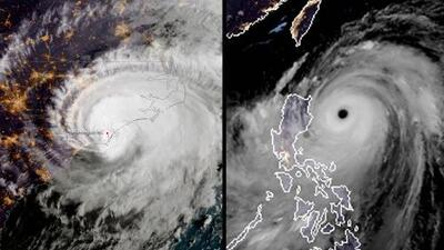 Diferencias entre el huracán Florence y el tifón Mangkhut, las dos grandes catástrofes de la temporada 2018