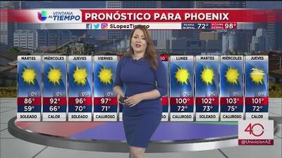 Cielos despejados y soleados en Arizona