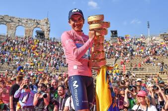 En fotos: Richard Carapaz y el regreso de Latinoamérica a lo más alto del Giro de Italia