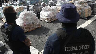 Guardia Costera descarga en Fort Lauderdale 10 toneladas de cocaína incautadas en el Pacífico