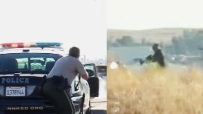 Sangriento tiroteo en autopista de California: policía detiene a un auto sospechoso y le disparan