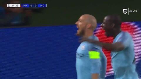 ¡GOOOL! David Silva anota para Manchester City