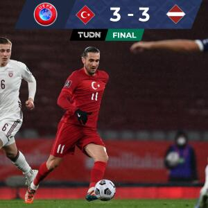 ¡Juegazo! Turquía dejó ir ventaja de dos goles y Letonia empató
