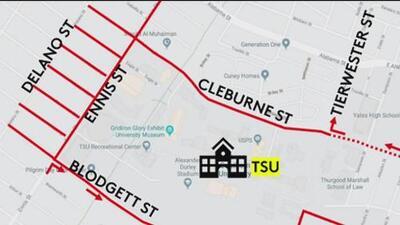 Estos serán los cierres de calles cerca de Texas Southern University por el debate demócrata