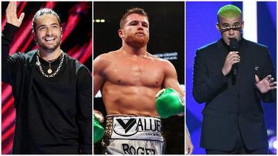 Maluma, Bad Bunny y más: 'El Canelo' estuvo rodeado de celebridades durante su pelea en Las Vegas