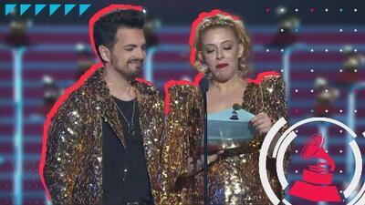 Miranda acepta el premio Latin GRAMMY a nombre de Luis Fonsi por 'Despacito'