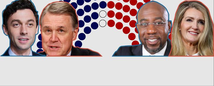 Elecciones del Senado en Georgia: vea en gráficos lo que se juegan demócratas y republicanos en la segunda vuelta