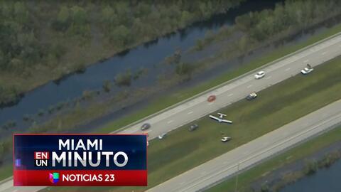 'Miami en un Minuto': investigan aterrizaje forzoso de una avioneta en la autopista I75 en el condado Collier