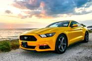 Campeche,,Mexico,-,May,20,,2017:,Yellow,Muscle,Car,Ford