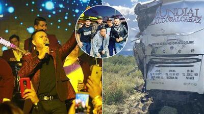 EN FOTOS: Aparatoso accidente de tránsito deja cinco músicos de Claudio Alcaraz lesionados