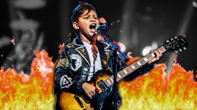 'Canelito' (literalmente) le prendió fuego al escenario