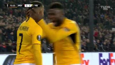 ¡GOOOL! Marvin Spielmann anota para Young Boys