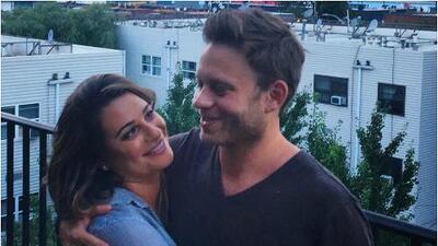 Lea Michele, actriz de 'Glee', le dio el sí a su novio Zandy Reich