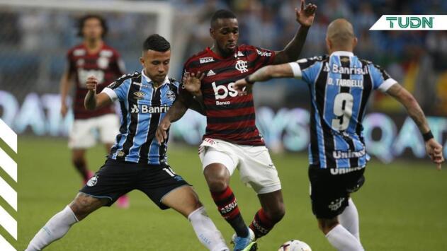 Gremio y Flamengo dejan todo para la vuelta en Maracaná