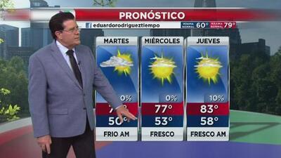 Las temperaturas estarán frescas este martes y subirán hacia el final de la semana