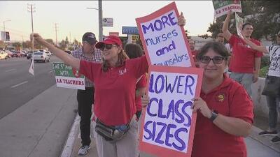 Sindicato de Maestros y Distrito Escolar Unificado de Los Ángeles no llegan a un acuerdo para evitar huelga