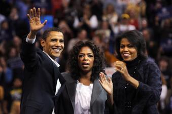 De estrella de la tele a posible candidata: 15 momentos políticos de Oprah Winfrey (fotos)