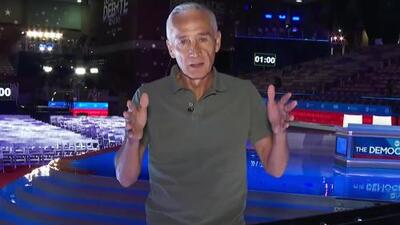 Jorge Ramos muestra el detrás de cámaras horas previas al debate entre los demócratas en Texas