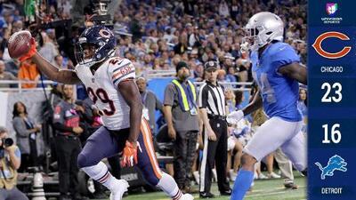 ¡Pavo para los Bears! Sin Trubisky, Chicago derrotó a Detroit en Thanksgiving