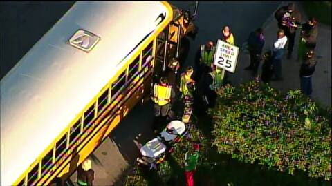 Cinco niños resultaron heridos cuando un autobús escolar chocó con otro en Broward
