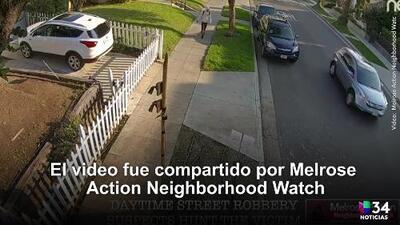 Impactante video muestra el ataque a un turista en Melrose Avenue.