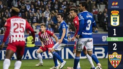 Dolorosa derrota del Real Oviedo; Alanís los 90 minutos