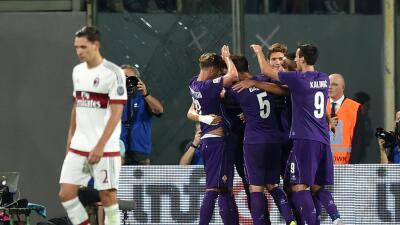 Sampdoria golea al Carpi y el Milan cae ante la Fiorentina