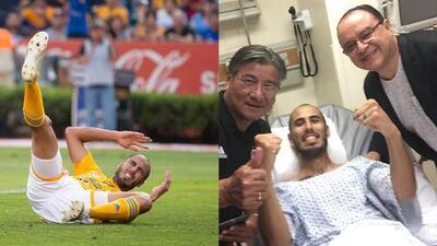 Guido Pizarro celebró desde el hospital el pase de Tigres a la Final