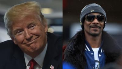 """El día que Trump llamó """"amigo"""" a Snoop Dogg y dijo que """"era pobre como un perro""""."""