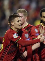 Con goles de Benteke (2), De Bruyne (2), Carrasco y Christoforou (autogol), Bélgica venció 6-1 a Chipre.