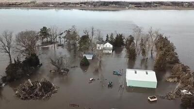 Imágenes aéreas de las históricas inundaciones del Medio Oeste que dejan tres muertos