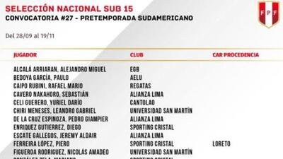 Perú Sub-15 convocó a Osama Vinladen