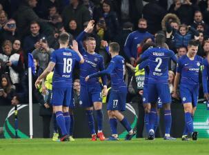 En fotos: Chelsea sigue su paso de favorito y llega a Octavos de final de Europa League
