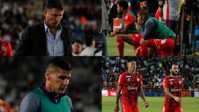 En fotos: la decepción de los Tiburones Rojos de Veracruz por el 9-2 recibido ante Pachuca