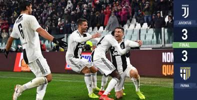Doblete y asistencia de Ronaldo no le alcanza a la Juventus para vencer al Parma